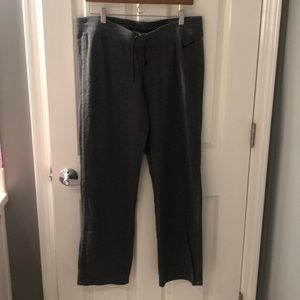 Nike thin gray stretch wide leg pants